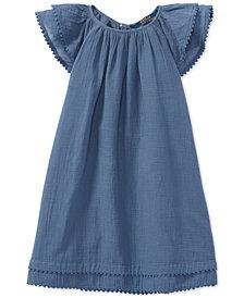 Polo Ralph Lauren Flutter-Sleeve Cotton Dress, Toddler Girls
