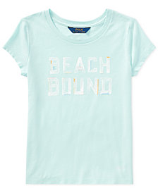 Polo Ralph Lauren Cotton Jersey Graphic T-Shirt, Big Girls