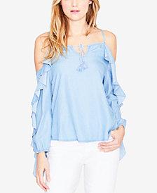 RACHEL Rachel Roy Ruffled Cold-Shoulder Top, Created for Macy's