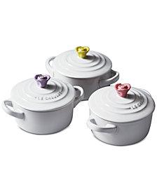 Le Creuset 3-Pc. Flower Mini Cocotte Set