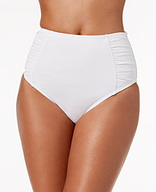 Bar III Solid High-Waist Bikini Bottoms, Created for Macy's