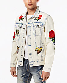 Reason Men's Parkhill Rose Patch Denim Jacket