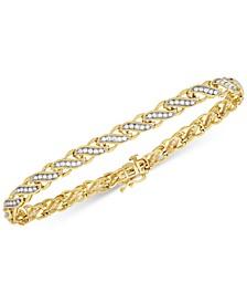 Diamond Swirl Link Bracelet (1 ct. t.w.) in 14k Gold