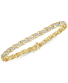 Diamond Swirl Link Bracelet (1 ct. t.w.) in 14k Gold