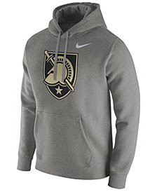 Nike Men's Army Black Knights Cotton Club Fleece Hooded Sweatshirt