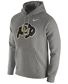 Nike Men's Colorado Buffaloes Cotton Club Fleece Hooded Sweatshirt