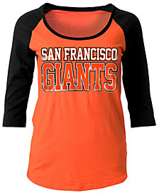 5th & Ocean Women's San Francisco Giants Plus Raglan T-shirt