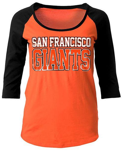 5th & Ocean Women's San Francisco Giants Plus Raglan T-shirt