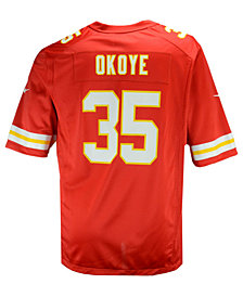 Nike Men's Christian Okoye Kansas City Chiefs Retired Game Jersey