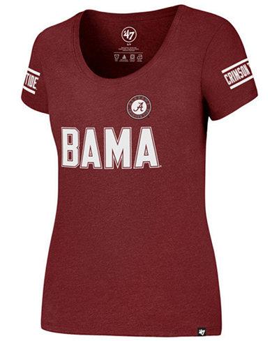 '47 Brand Women's Alabama Crimson Tide Stripe Ultra Club Scoop T-Shirt