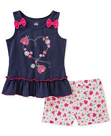 Kids Headquarters 2-Pc. Ladybug Tank Top & Shorts Set, Toddler Girls