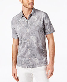 Tommy Bahama Men's Fuego Floral Print Knit Camp Shirt