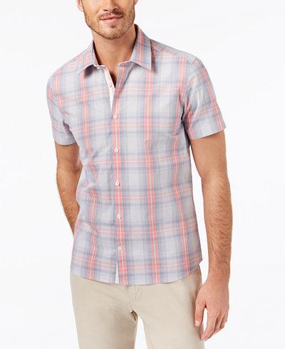 Ryan Seacrest Distinction™ Men's Slim-Fit Plaid Sport Shirt, Created for Macy's