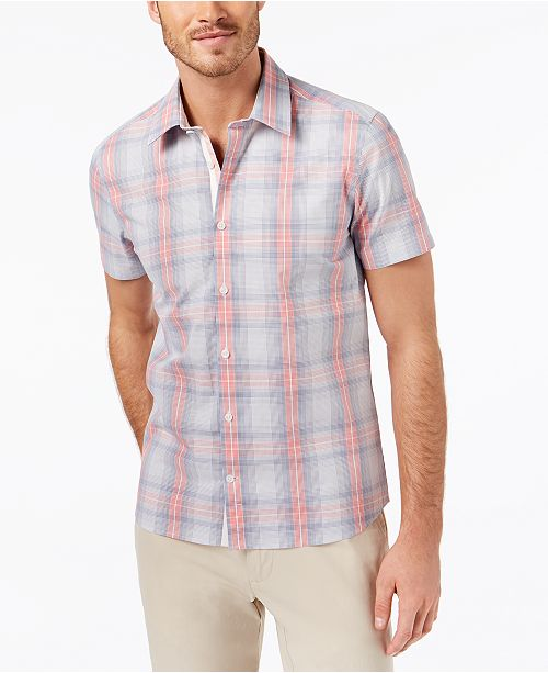 Ryan Seacrest Distinction Men's Slim-Fit Plaid Sport Shirt, Created for Macy's