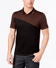Alfani Men's Exaggerated Colorblocked Polo, Created for Macy's
