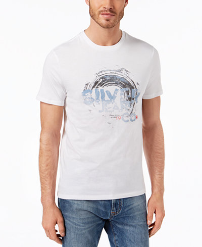 Silver Jeans Co. Men's Wave Logo T-Shirt