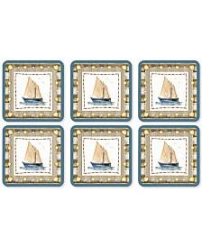 Pimpernel Coastal Breeze Set of 6 Coasters