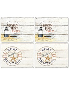 Coastal Signs Set of 4 Placemats