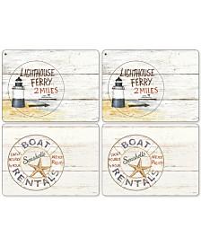 Pimpernel Coastal Signs Set of 4 Placemats