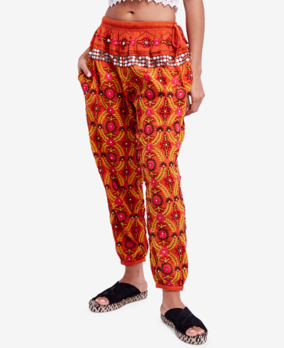 Free People Marrakesh Cotton Embellished Harem Pants