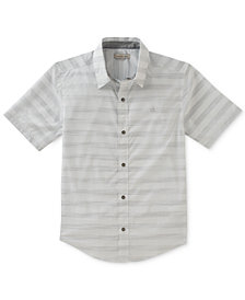 Calvin Klein Space-Dyed Striped Cotton Shirt, Big Boys