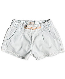 Roxy Pull-On Cotton Denim Shorts, Little & Big Girls