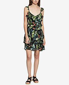 Sanctuary Capri La Havana Floral-Print Ruffled Dress