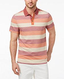 Tasso Elba Men's Striped Supima® Blend Polo, Created for Macy's