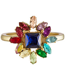 RACHEL Rachel Roy Gold-Tone Multi-Stone Cluster Fashion Ring