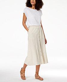 Eileen Fisher Boat-Neck Top & Skirt