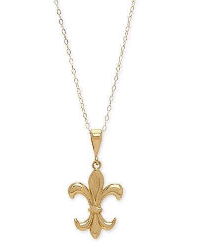 Fleur de lis 18 pendant necklace in 10k gold necklaces jewelry fleur de lis 18 aloadofball Gallery