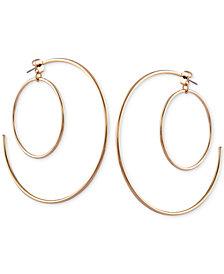 GUESS Silver-Tone Double Hoop Earrings