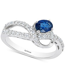 Blueberry Sapphire™ (1/2 ct. t.w.) & Diamond (1/3 ct. t.w.) Ring in 14k White Gold