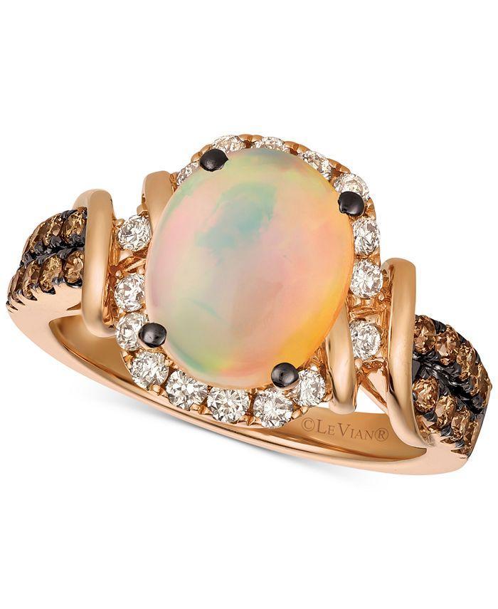 Le Vian - Neopolitan Opal™ (7/8 ct. t.w.) & Diamond (5/8 ct. t.w.) Ring in 14k Rose Gold