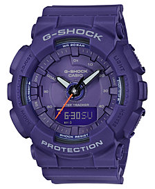 G-Shock Women's Analog-Digital Purple Resin Strap Step Tracker Watch 49.5mm