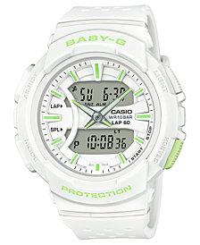 Baby-G Women's Analog-Digital White Resin Strap Watch 42.6mm