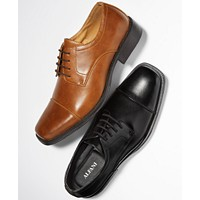 Alfani Men's Adam Cap Toe Oxford Dress Shoes (Tan or Black)
