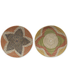 3R Studio Seagrass Hand-Woven Wall Hangings, Set of 2