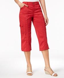 Style & Co Petite Cargo Capri Pants, Created for Macy's