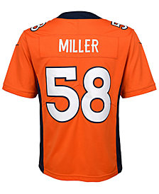 Nike Von Miller Denver Broncos Limited Team Jersey, Big Boys (8-20)