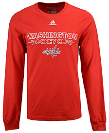 adidas Men's Washington Capitals Frontline Long Sleeve T-Shirt