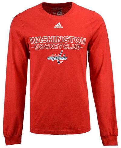 adidas Men's Washington Capitals Frontline Long Sleeve T-Shirt