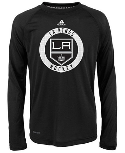 adidas Los Angeles Kings Practice Graphic Long Sleeve T-Shirt, Big Boys (8-20)