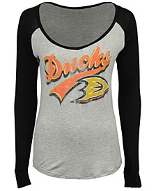 Women's Anaheim Ducks Raglan Long Sleeve T-Shirt