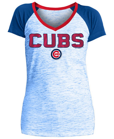 5th & Ocean Women's Chicago Cubs Space Dye Stone T-Shirt