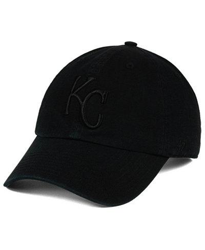 '47 Brand Kansas City Royals Black on Black CLEAN UP Cap