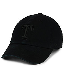 '47 Brand Texas Rangers Black on Black CLEAN UP Cap