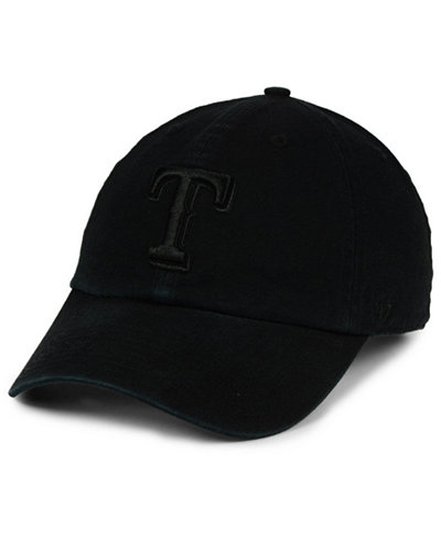 '47 Brand Texas Rangers Black on Black CLEAN UP Cap