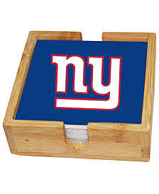 Memory Company New York Giants 4-Pack Square Coaster With Caddy Set