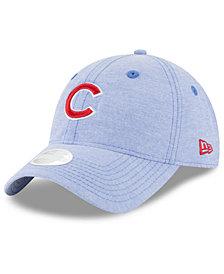 New Era Chicago Cubs Team Linen 9TWENTY Strapback Cap